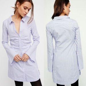 NWOT Free People Liv Striped Shirt Dress